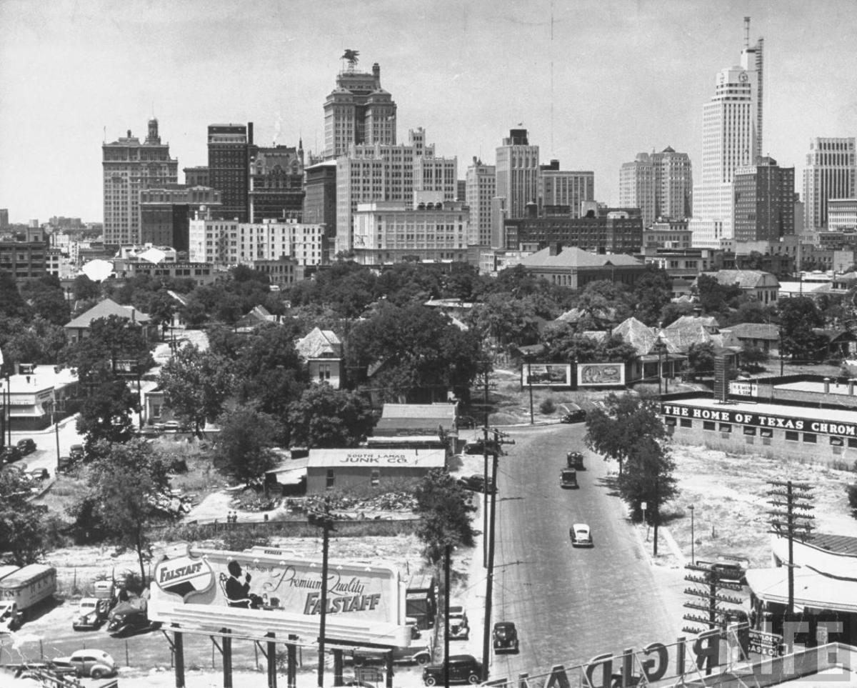 dallas skyline by alfred eisenstaedt � 1942 flashback