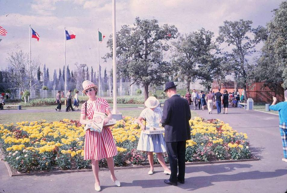 Candy Stripers Moonlighting As Six Flags Map Sellers Ca 1961