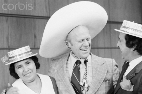 Pres. Ford In Sombrero