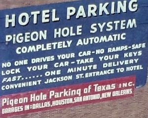 pigeon-hole-parking_dallas_1962_sign