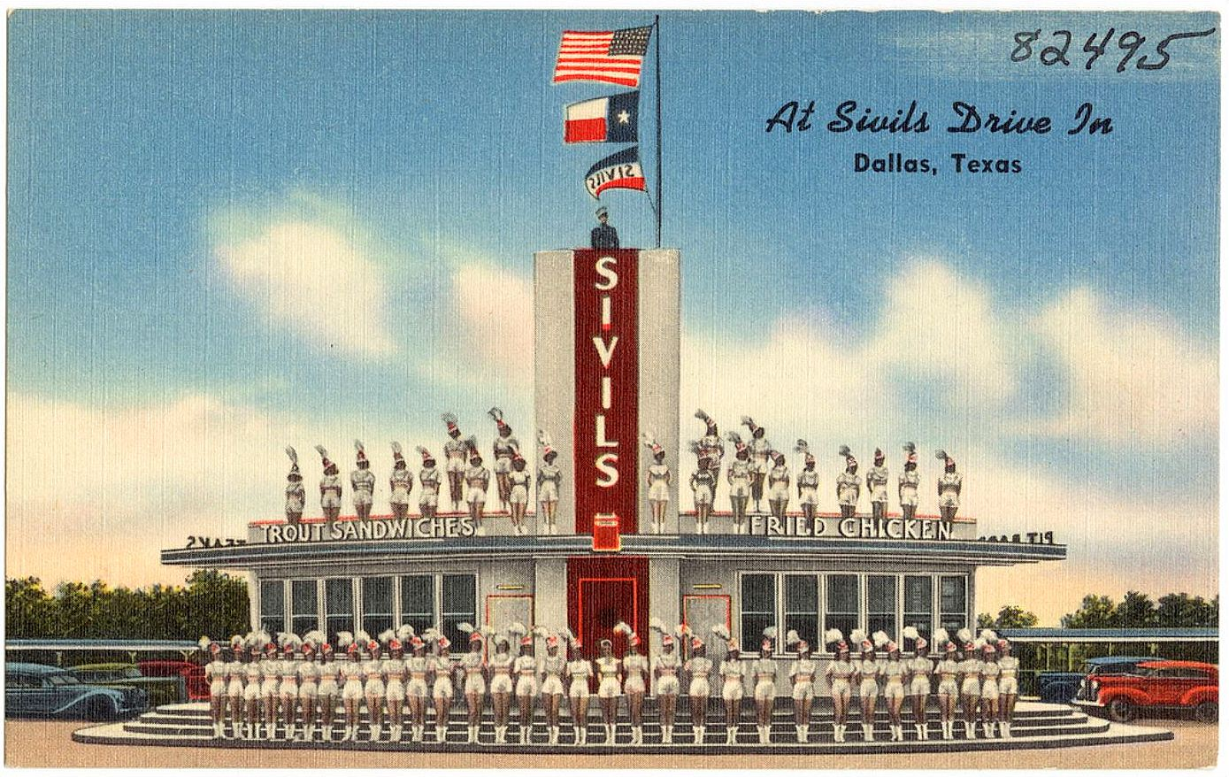 Sivils Drive In An Oak Cliff Institution 1940 1967 Flashback Dallas