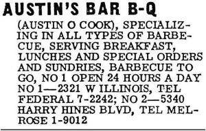 austins-barbecue_1962-directory_two-locations