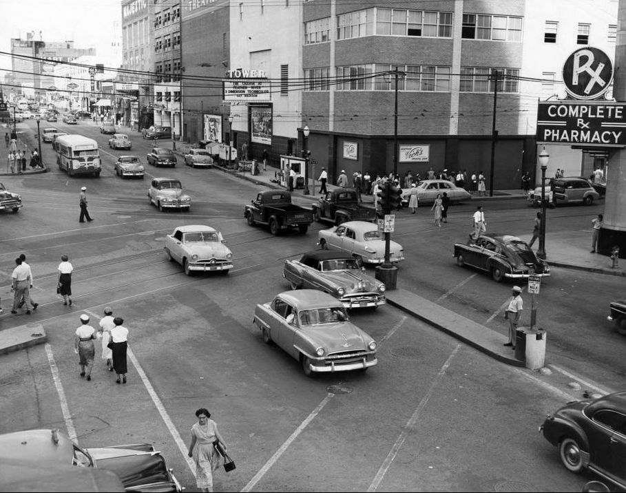 Traffic woes the pacific st paul live oak intersection 1953