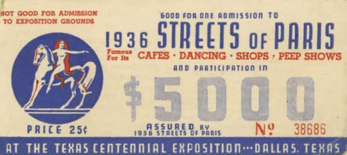tx-centennial_streets-of-paris_ticket_cook-coll_smu