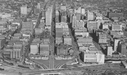 downtown_aerial-photo-service_postcard_cook-collection_smu_cropped