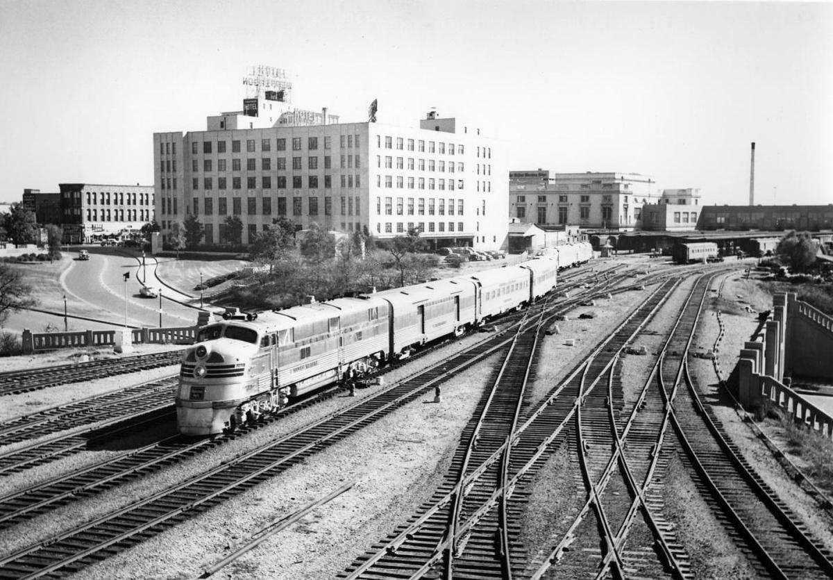 The Sam Houston Zephyr Leaving Union Station Crossing