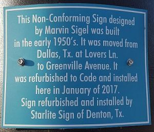sigels-sign-plaque_greenville-ave_072717
