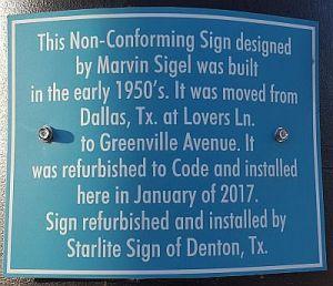 sigels-sign-plaque_greenville-ave_072717