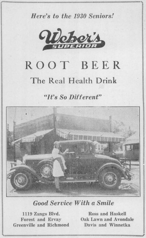 ad-webers-root-beer_1930-dallas-technical-high-school-yrbk_frank-rogers