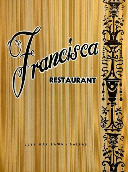 francisca-restaurant_menu_1961_ebay