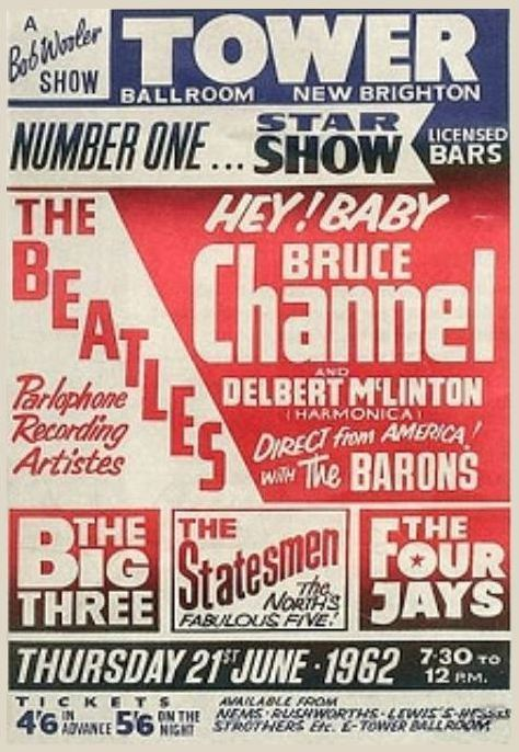 Bruce Channel, Delbert McClinton, and The Beatles — 1962 | Flashback : Dallas