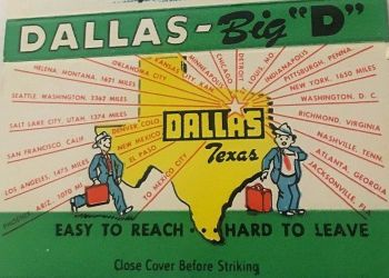 dallas-hospitality_matchbook-cover_ebay_a1
