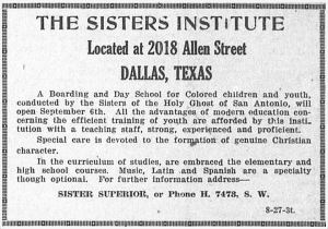 sisters-institure_dallas-express_082721