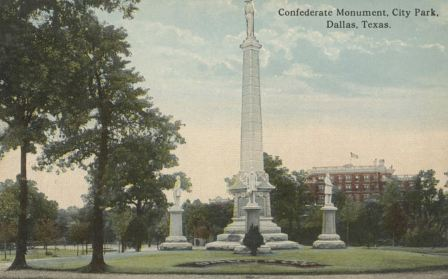 confederate-monument_city-park_majestic-hotel_cook-colln_degolyer_smu