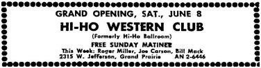 miller-roger_060863_hi-ho-western-club_grand-prairie