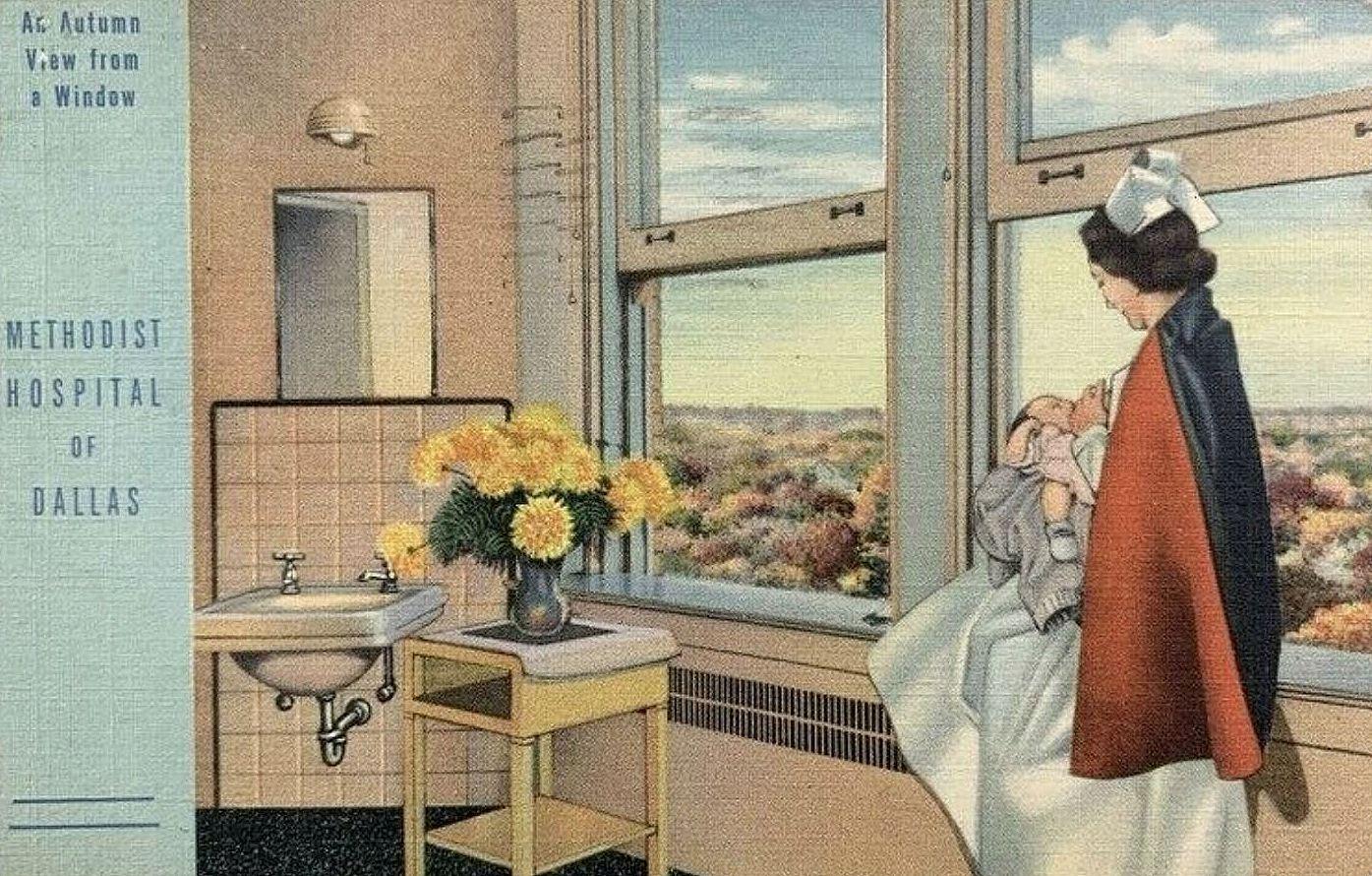 methodist-hospital_postcard_1944_ebay