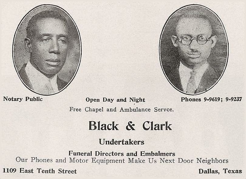 black-and-clark-undertakers_dallas-negro-directory_1930_portal