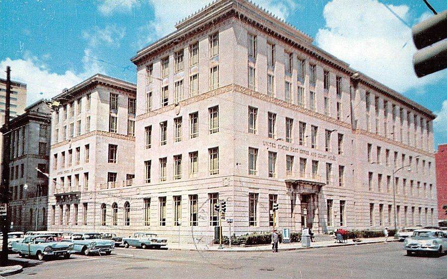 post-office_federal-bldg_bryan-ervay_postmarked-1964