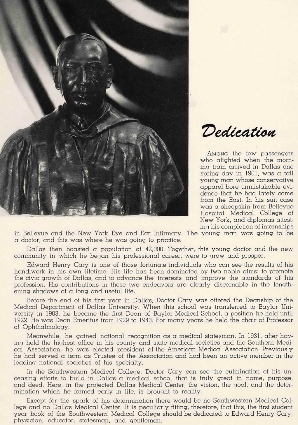 southwestern-medical-college_1944 yrbk_caduceus_dedication_dr-e-h-cary