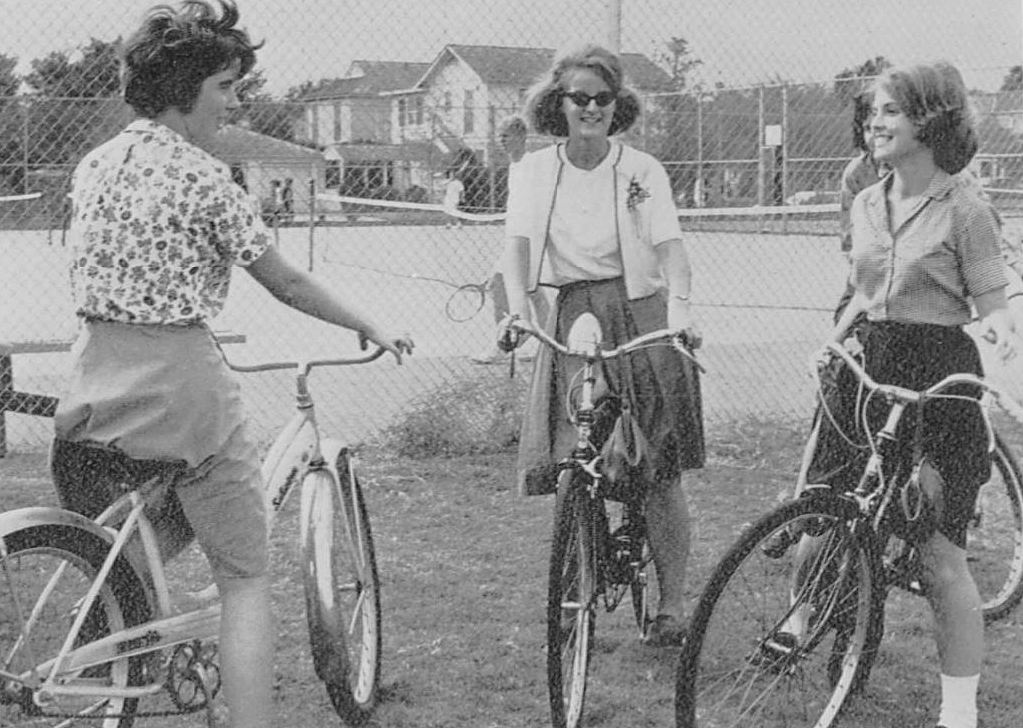 girls-bikes_HPHS-yrbk_1964