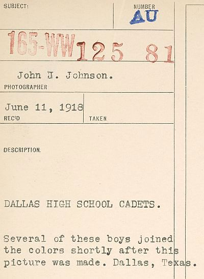 ww1_cadets_commerce-street_1918_natl-archives_description