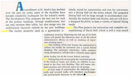 st-marks_development-plan_1965-yearbook_caption