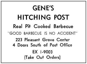 spruce-high-school_1964-yrbk_genes-hitching-post-bbq