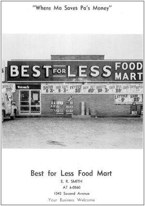 spruce-high-school_1966-yrbk_best-for-less-food-mart