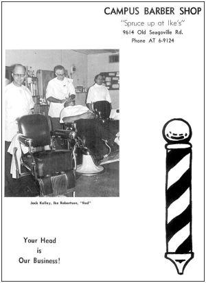 spruce-high-school_1966-yrbk_campus-barber-shop